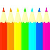 Colored pencils set. Royalty Free Stock Photo