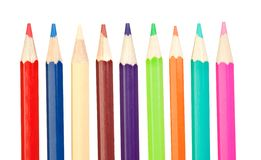 Colored pencils sharp vertical Royalty Free Stock Photo
