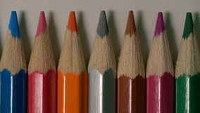 Colored pencils shot on macro lens stock video footage
