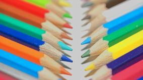 Colored pencils shot on macro lens stock footage