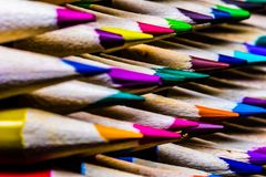 Colored Pencils in a Neat Stack Stock Photos