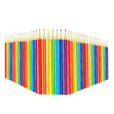 Colored pencils standing in a row perspective. On a white background royalty free illustration