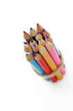 Colored pencils stringed Royalty Free Stock Photography
