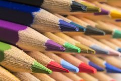 Colored pencils of various colors Stock Photography