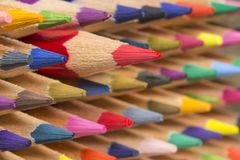Colored pencils of various colors Stock Photo