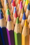 Colored pencils of various colors Royalty Free Stock Photo