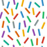 Colored pencils. Vector illustration. Background. Endless texture can be used for printing onto fabric and paper or scrap booking. Royalty Free Stock Photo