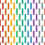 Colored pencils. Vector illustration. Background. Endless texture can be used for printing onto fabric and paper or scrap booking. Royalty Free Stock Image