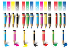Colored pencils. Vector Illustration Royalty Free Stock Images