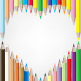 Colored Pencils. Vector set of colored pencils Stock Photography