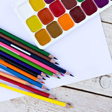 Colored pencils, Royalty Free Stock Photography