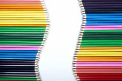 Colored Pencils Wave Stock Image