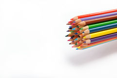 Colored pencils on a white. Colored pencils on a white background Stock Photography