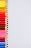 Colored pencils. On white background royalty free illustration
