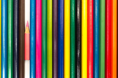 Colored pencils on a white background Royalty Free Stock Photo