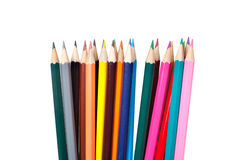 Colored pencils. On white background royalty free stock images
