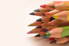 Colored Pencils. On a white background Stock Image