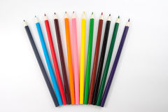 A colored pencils  Royalty Free Stock Image