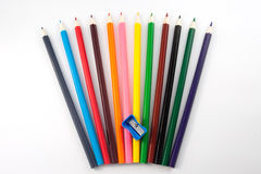 A colored pencils  Royalty Free Stock Photo