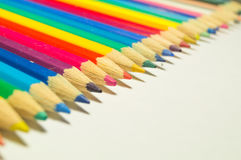 Colored pencils on a white background Stock Image