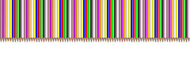 Colored pencils on white background. 3d illustration Royalty Free Stock Photos