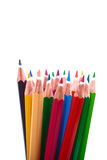 Colored pencils on a white background Stock Photography