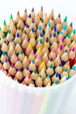 Colored pencils on white Royalty Free Stock Photos