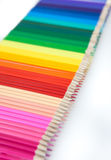 Colored pencils on white Royalty Free Stock Photography
