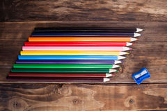 A colored pencils Royalty Free Stock Images