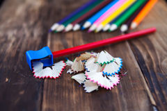 A colored pencils Royalty Free Stock Photos