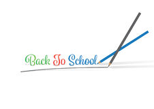 Colored Pencils writing BACK TO SCHOOL. 2 Colored Pencils writing BACK TO SCHOOL Royalty Free Stock Image