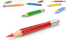 Colored Pencils for your text Royalty Free Stock Image