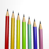 Colored pencils2 Stock Images