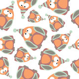 Colored penguins in retro style, seamless pattern,  Royalty Free Stock Photos