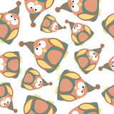 Colored penguins in retro style, seamless pattern,  Stock Photography