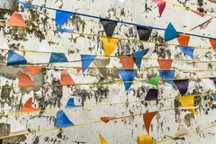Colored Pennants Background Royalty Free Stock Photo