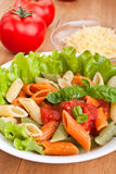Colored penne pasta Royalty Free Stock Photos