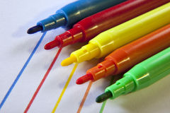 Colored Pens Royalty Free Stock Photos