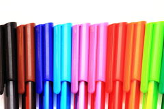 Colored pens - Back to school Stock Photos
