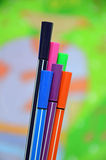 Colored Pens Stock Photography