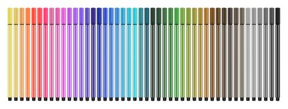 Colored pens close Stock Photography