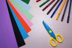 Colored pens Stock Images