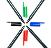 Colored pens royalty free stock image