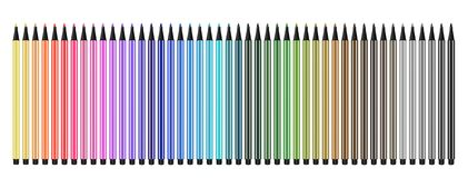 Colored pens open Royalty Free Stock Photography