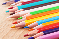 Colored pensils Stock Photos
