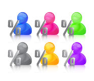 Colored people icon. Royalty Free Stock Image
