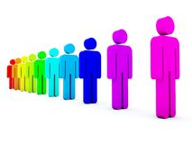 Colored peoples Stock Images