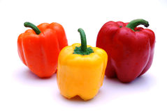 Colored Pepper. A Mixed Fresh Healthy colored peppers Royalty Free Stock Photos
