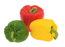 Colored pepper isolated Royalty Free Stock Photo