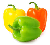 Colored  pepper isolated on a white background Stock Photo